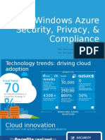 Windows Azure - Security Privacy Compliance