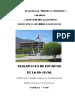 Nuevo Reglamento de Estudios de La Unheval