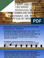Peranan Sosiologi Dalam Konteks Pendidikan (1)