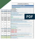 Calendário Acadêmico Geral 2015.1 - FESV