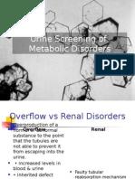 Urine Screening of Metabolic Disorders