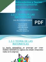 Teoria de Las Matematicas