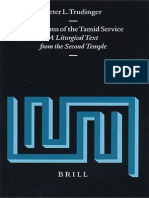 The Psalms of the Tamid Service a Liturgical Text From the Second Temple