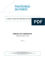 Curso Livre Análise de Música Tonal - Manual candidato - obtenção dados acesso v1