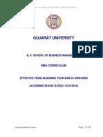 MBA Syllabus (B K School) Wef 2009 Under CBCS
