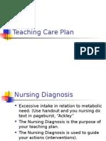 Health Promotion Teaching Care Plan Fall 2013 Rev