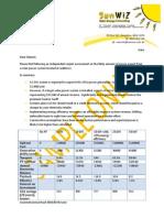 Sun Wiz Sample FiT Export Revenue Calculation Report