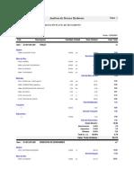 Integración de precios Unitarios PTAR