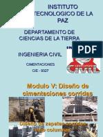 Diseno de Zapatas Corridas Bajo Columnas (ING CIVIL)