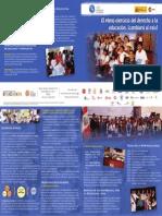 Brochure CPDE Institucional El Pleno Ejercicio Del Derecho a La Educación, ¡Cambiará Al País!