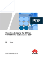 Operation Guide to the OMStar V500R008 for Maintenance SOP