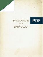 Proclamatie van Baha'u'llah