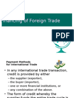 Financing of Foreign Trade