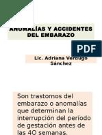 Anomalías y Accidentes Del Embarazoavs