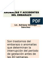 Anomalías y Accidentes Del Embarazoavs