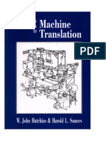 An Intoduction to Machine Translation