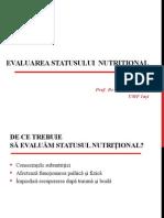3. Evaluarea Statusului Nutritional