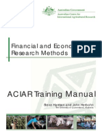 Financial and Economic Research Methods Training