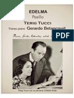 EDELMA. Pasillo. Terig Tucci. Transc. piano Gerardo Betancourt.
