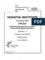 Marketing Management in Practice (Advanced Marketing Simulation) PGDM 2013-14