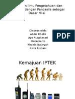 Pancasila dalam pengembangan IPTEK
