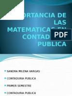 Importancia de Las Matematicas en Contaduria Publica
