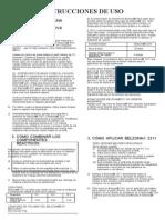 Instrucciones de Uso de Belzona 2311