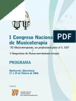 I Congreso Nacional de Musicoterapia 2006Barcelona