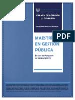 Maestría en Gestión Pública
