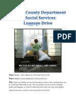 luggage drive flyer