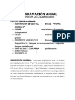 PROGRAMACIÓN Anual Huacatinco