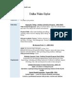 dallas 2015 resume portfolio