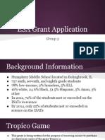 esa grant application presentation