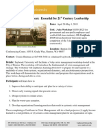 Saybrook University | Crisis Management Flier