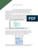 Manejo de Tablas Dinamicas en Excel 2010