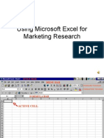 Marketing Research Easy Excel