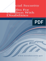 Benefits for children with disability