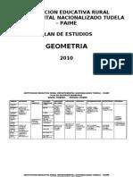 Plan de estudios geometría 2010. I.E.D Tudela, Paime