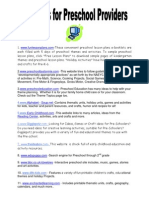 5-websites for preschool providers