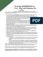 Samahan ng mga Manggagawa sa Filsystems v. SOLE Digest