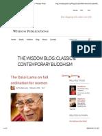 The Dalai Lama on full ordination for women | Wisdom Publications
