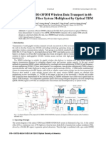 High Speed MIMO-OfDM Wireless Data Transport in 60-GHz Radio-over-fiber System Multiplexed by Optical TDM