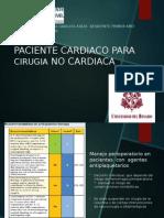 Cirugia No Cardiaca en Paciente Cardiaco