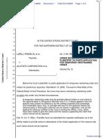 Franklin et al v. Allstate Corporation et al - Document No. 7