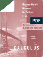 1. Hughes Hallett - Cálculo de Uma Variável - 3ªed - Soluções