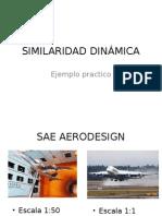 SIMILARIDAD DINÁMICA DE ESCALA DE AERONAVE