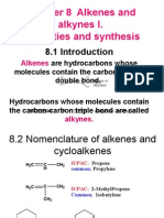 Chapter 8 Alkenes and Alkynes I