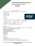 Prova de Matemática Epcar 2013 Resolvida