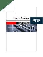 Voip GW Usermanual