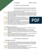 AS Biology Checklist Cambridge